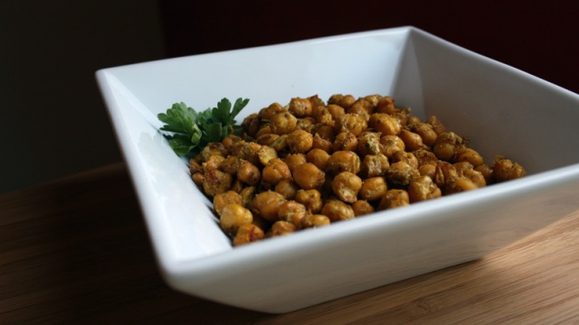 Curry-Seasoned Chick Peas, Roasted