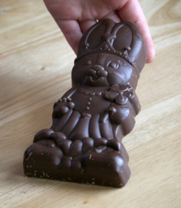 Chocolate Bunny that bravely gave her life!