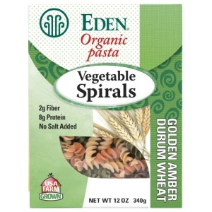 Eden Organic Pasta - Vegetable Spirals