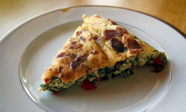 Low-Fat Vegetable Chicken Bacon Frittata
